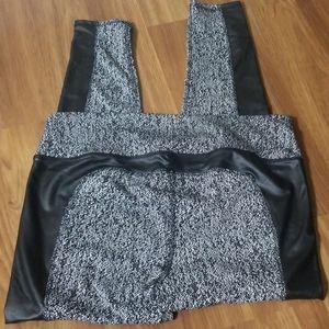 MTA Sport Pants - Faux Leather Activewear Leggings